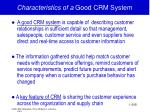 characteristics of a good crm system