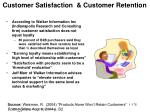 customer satisfaction customer retention