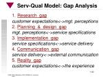 serv qual model gap analysis
