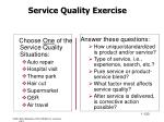 service quality exercise