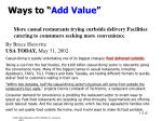 ways to add value