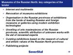 museums of the russian north key categories of the tender