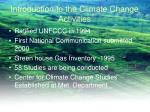 introduction to the climate change activities
