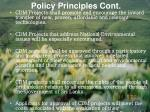 policy principles cont