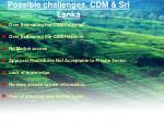 possible challenges cdm sri lanka