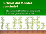 3 what did mendel conclude