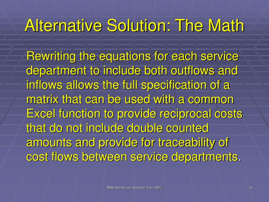 Alternative Solution: The Math