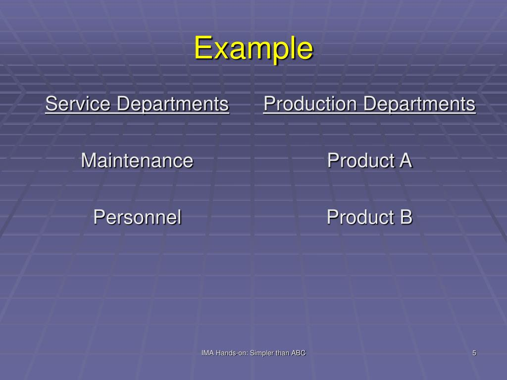 Service Departments