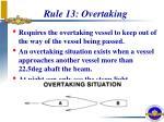 rule 13 overtaking