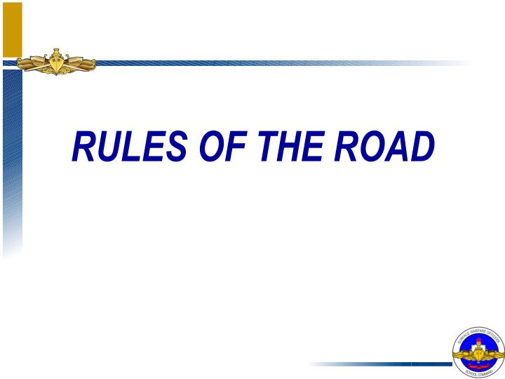 rules of the road n.