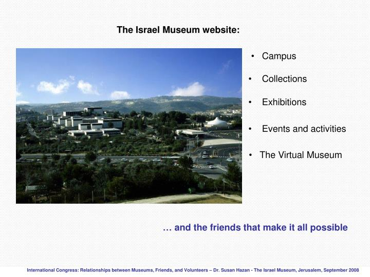 The Israel Museum website: