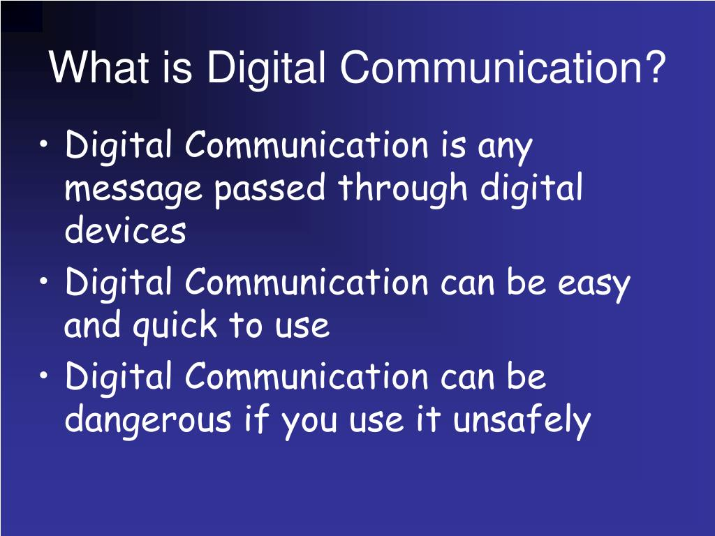 What is Digital Communication?