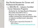 key florida statutes for career and professional academies