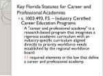 key florida statutes for career and professional academies8
