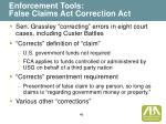 enforcement tools false claims act correction act