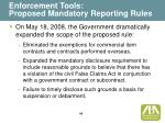 enforcement tools proposed mandatory reporting rules49
