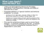 what laws apply usa patriot act