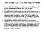 enhanced due diligence requirements