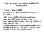 new interagency statement on bsa aml enforcement