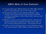 aba s rule of law initiative