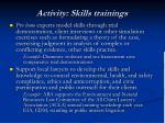 activity skills trainings