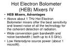 hot electron bolometer heb mixers iv