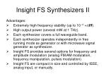 insight fs synthesizers ii
