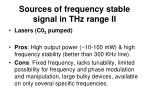 sources of frequency stable signal in thz range ii