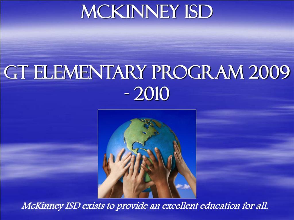 mckinney isd gt elementary program 2009 2010 l.