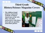 third grade history science magazine covers