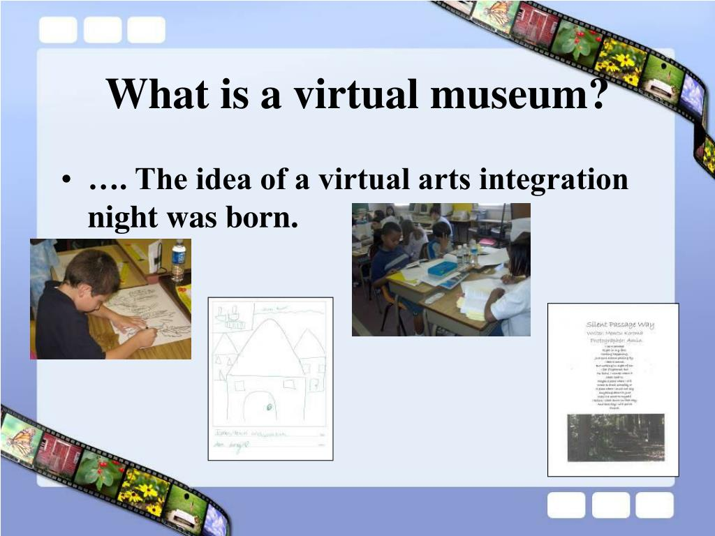 What is a virtual museum?