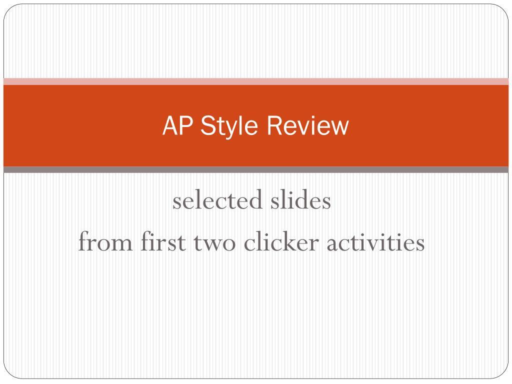 ap style review l.