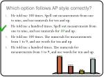 which option follows ap style correctly