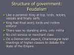 structure of government feudalism