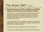 the dream 2003 cont d24