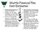 shuttle financial plan cost estimates