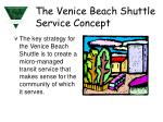 the venice beach shuttle service concept