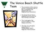 the venice beach shuttle team