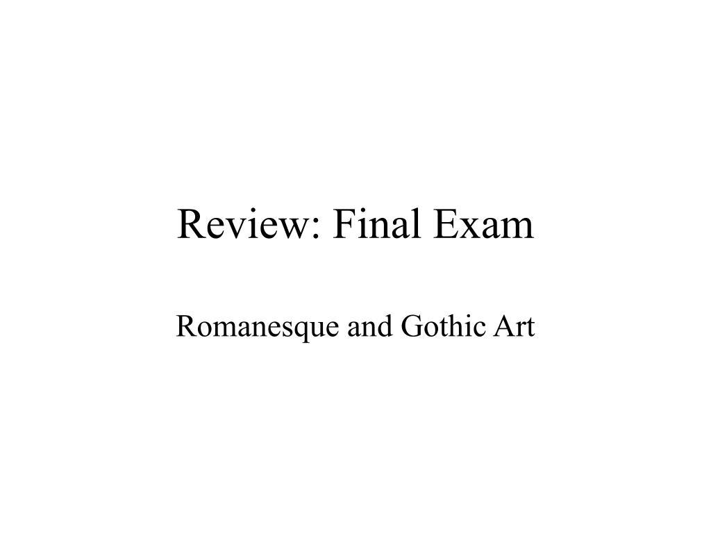 review final exam l.