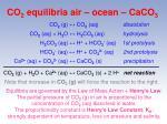 co 2 equilibria air ocean caco 3