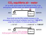 co 2 equilibria air water19
