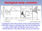 geological temp evolution