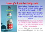 henry s law in daily use16