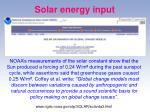 solar energy input