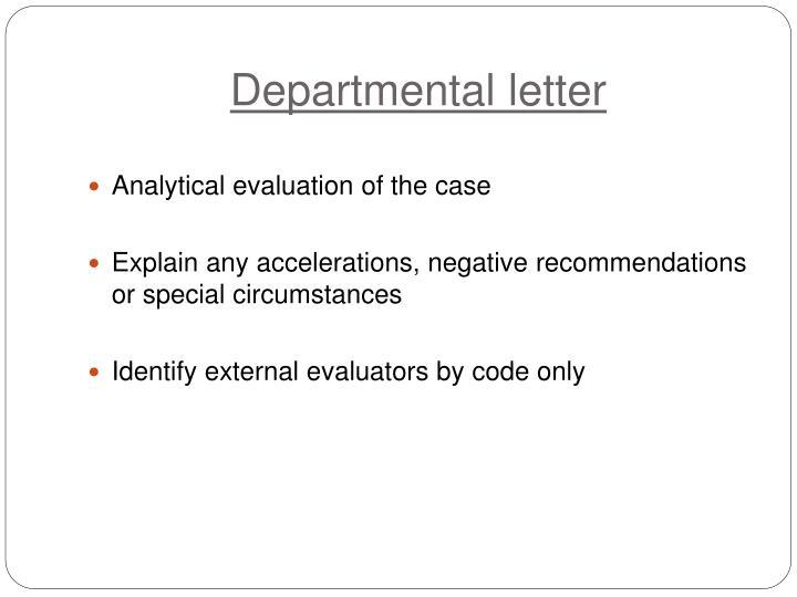 Departmental letter