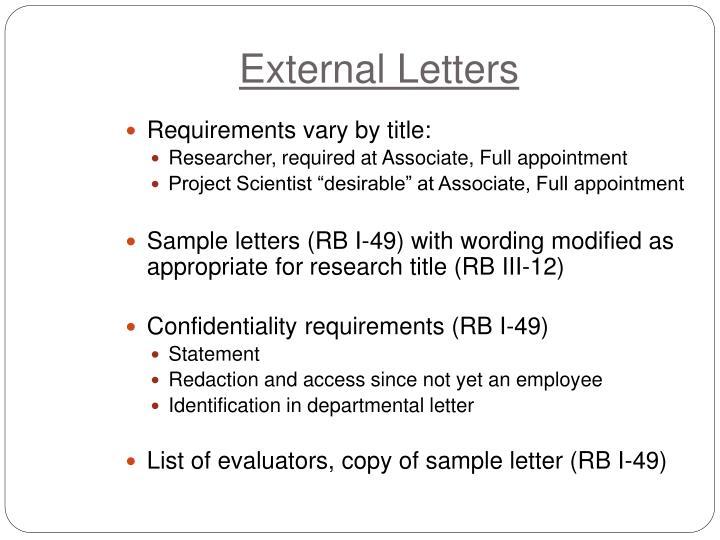 External Letters