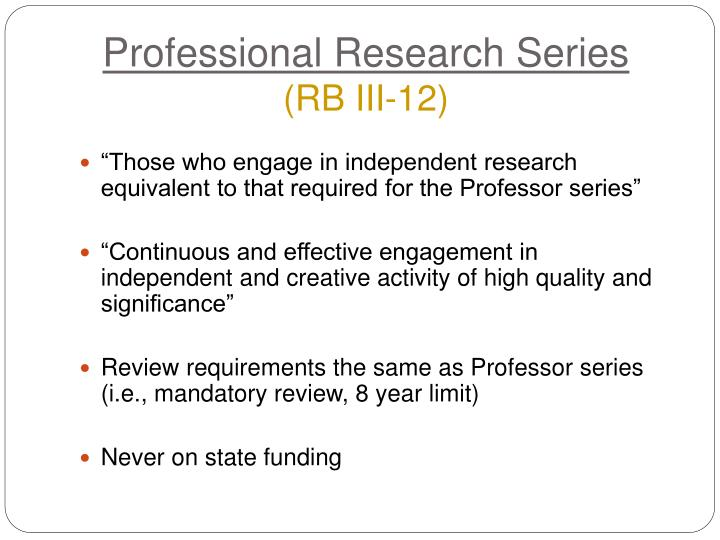 Professional Research Series