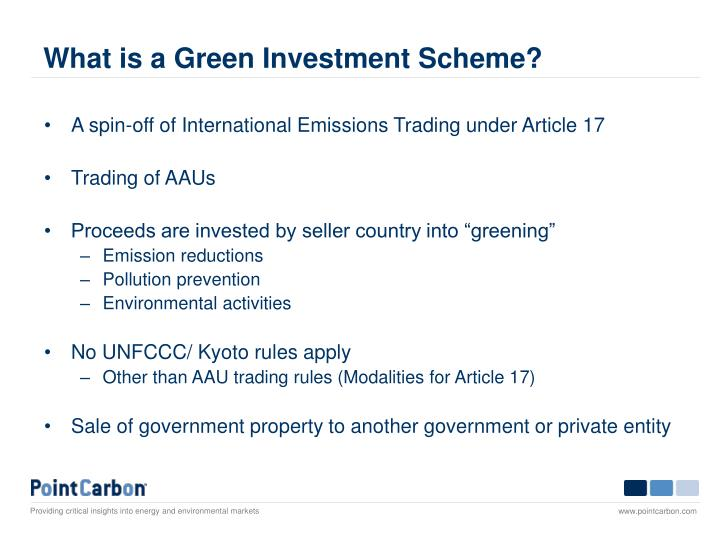What is a green investment scheme