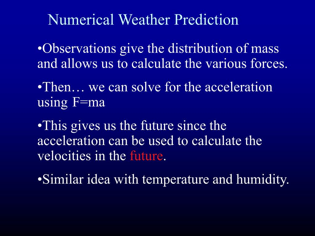 Numerical Weather Prediction