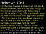 hebrews 10 1